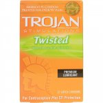 Trojan Twisted Pleasure Lubricated - 12 Pack Sex Toy